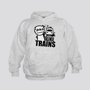 I Like Trains! Kids Hoodie